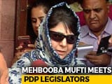 Video: After Exit Of 2 Ministers, Crucial Meetings At BJP, Mehbooba Mufti Camps