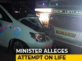 """Video: """"Attempt On My Life,"""" Tweets Minister Anant Hegde After Truck Hit Convoy"""