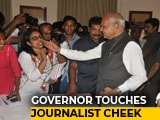 Video : Tamil Nadu Governor Pats Woman Journalist On Cheek Without Consent, Triggers Outrage
