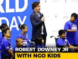 Video: Robert Downey Jr Takes <i>The Avengers</i> Oath With NGO Kids