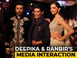 Video : Deepika & Ranbir On Setting The Ramp On Fire