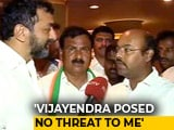 "Video : ""Makes No Difference"": Siddaramaiah Jr After Yeddyurappa's Son Pulled Out"