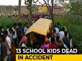 Video : 11 Children Killed As Train Hits School Bus In Uttar Pradesh's Kushinagar