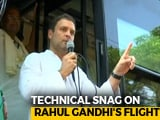 "Video : ""Intentional Tampering,"" Alleges Team Rahul Gandhi After Major Flight Scare"