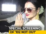 Video: Spotted: Rekha At The Screening Of Amitabh Bachchan & Rishi Kapoor's <i>102 Not Out</i>