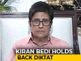 "Video : Kiran Bedi Suspends Puducherry ""No Toilets, No Rice"" Order After Anger"