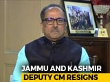 Video : BJP's Nirmal Singh Resigns As Jammu And Kashmir Deputy Chief Minister