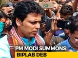 Video : Tripura's Biplab Deb May Get An Earful From PM Modi Over Howlers: Sources