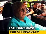"Video : Lalu Yadav Protests Release By AIIMS, Screams Conspiracy By ""PM Modi"""