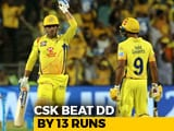 Video : IPL 2018: Dhoni, Watson Star As Chennai Super Kings Beat Delhi Daredevils