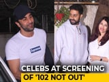 Video : Ranbir, Aishwarya & Abhishek At The Screening Of <i>102 Not Out</i>
