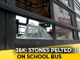 Video : Stones Thrown At School Bus With 50 Children In Kashmir, 2 Students Hurt
