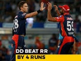 Video: IPL 2018: Delhi Daredevils Edge Past Rajasthan Royals To Stay Alive