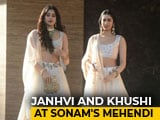Video : Janhvi Kapoor, Karan Johar & Other Stars At Sonam Kapoor's <i>Mehendi</i> Party