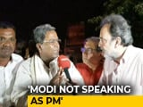 Video: PM Modi's Popularity Has Declined Drastically: Siddaramaiah To NDTV