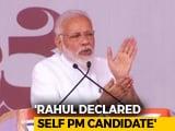 "Video: ""Arrogance,"" Says PM Modi On Rahul Gandhi's Prime Minister Remark"