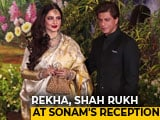 Video : Shah Rukh Khan, Rekha, Janhvi & Others At Sonam's Reception