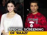Video: Alia Bhatt, Karan Johar & Others At The Special Screening Of <i>Raazi</i>