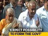 """Video: """"We Have Done Well"""": HD Deve Gowda After Casting Vote In Karnataka"""