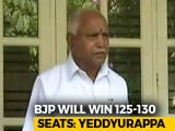 "Video: ""BJP Will Win 125-130 Seats"": BS Yeddyurappa's Forecast And A Challenge"
