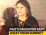 Video : Pak Poet Faiz Ahmed's Daughter Alleges Ban From New Delhi Media Summit