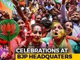 Video: Supporters Celebrate At BJP Headquarters In Karnataka