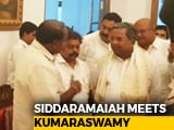 Video: JD(S)'s HD Kumaraswamy, Siddaramaiah Together At Karnataka's Governor House
