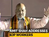 Video: Never Seen The Kind Of Money And Muscle Power As In Karnataka Polls: Amit Shah