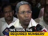 Video: Karnataka Election: We Have The Required Numbers, Says Siddaramaiah