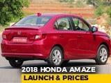 Second-Gen Honda Amaze Prices Revealed