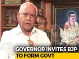 Video: BJP's Yeddyurappa To Take Oath, Has 15 Days To Prove Majority