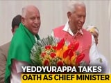 Video: BJP's Yeddyurappa Takes Oath As Karnataka Chief Minister