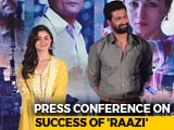 Video : Alia Bhatt And Vicky Kaushal On The Success Of <i>Raazi</i>
