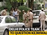 Video : Delhi Police At Arvind Kejriwal Home Again, This Time To Question Him