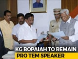 Video: KG Boapaiah To Stay Temporary Speaker, Floor Test To Be Broadcast Live