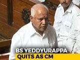 Video: Watch: BS Yeddyurappa's Speech In Karnataka Assembly Announcing Resignation