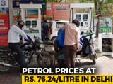 Video : Petrol Prices Zoom To Rs. 76.24 Per Litre, Diesel Touches All-Time High