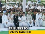 Video : Rahul Gandhi, Priyanka Gandhi Vadra Pay Tribute To Rajiv Gandhi On His Death Anniversary
